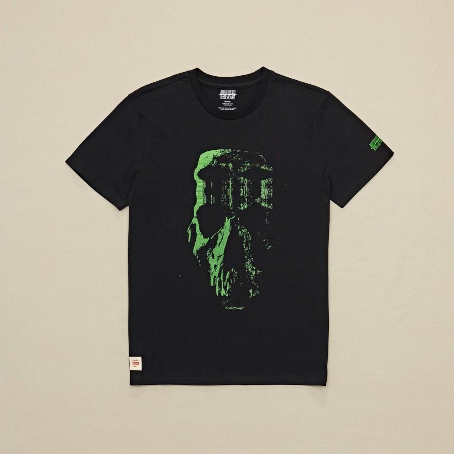 Camiseta Globe Refuse Skull Tee Black