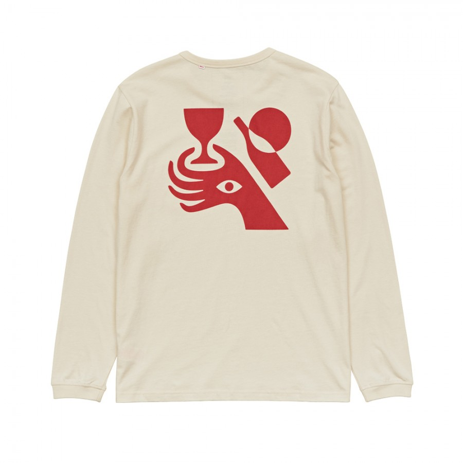 Camiseta Globe Vincent Milou LS Tee Bleach Free-Dye Free