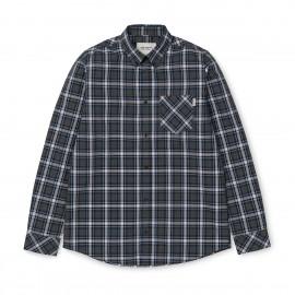 Camisa carhartt Leroy LS Shirt Leroy check / Black Heather