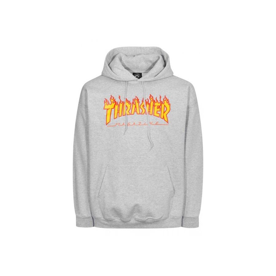 Sudadera Thrasher Flame Logo Hoodie Grey