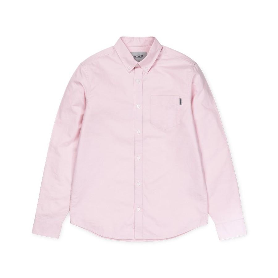 Camisa Carhartt Button Down Pocket Shirt LS Soft Rose