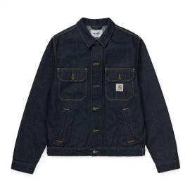Cazadora Carhartt Stetson Denim Jacket Blue Rinsed