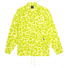 Cazadora HUF Neo Leopard Coach Jacket Hot Lime