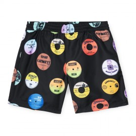 Bañador Carhartt Drift Swin Trunks Record Print Black
