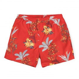 Bañador Carhartt Drift Swin Trunks Hawaian Floral Print Red