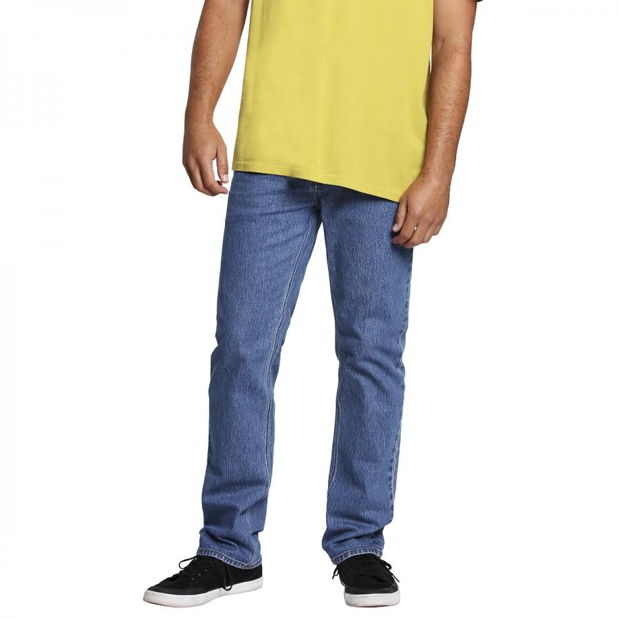 Pantalon Volcom Solver Denim Mid Marboled Indigo