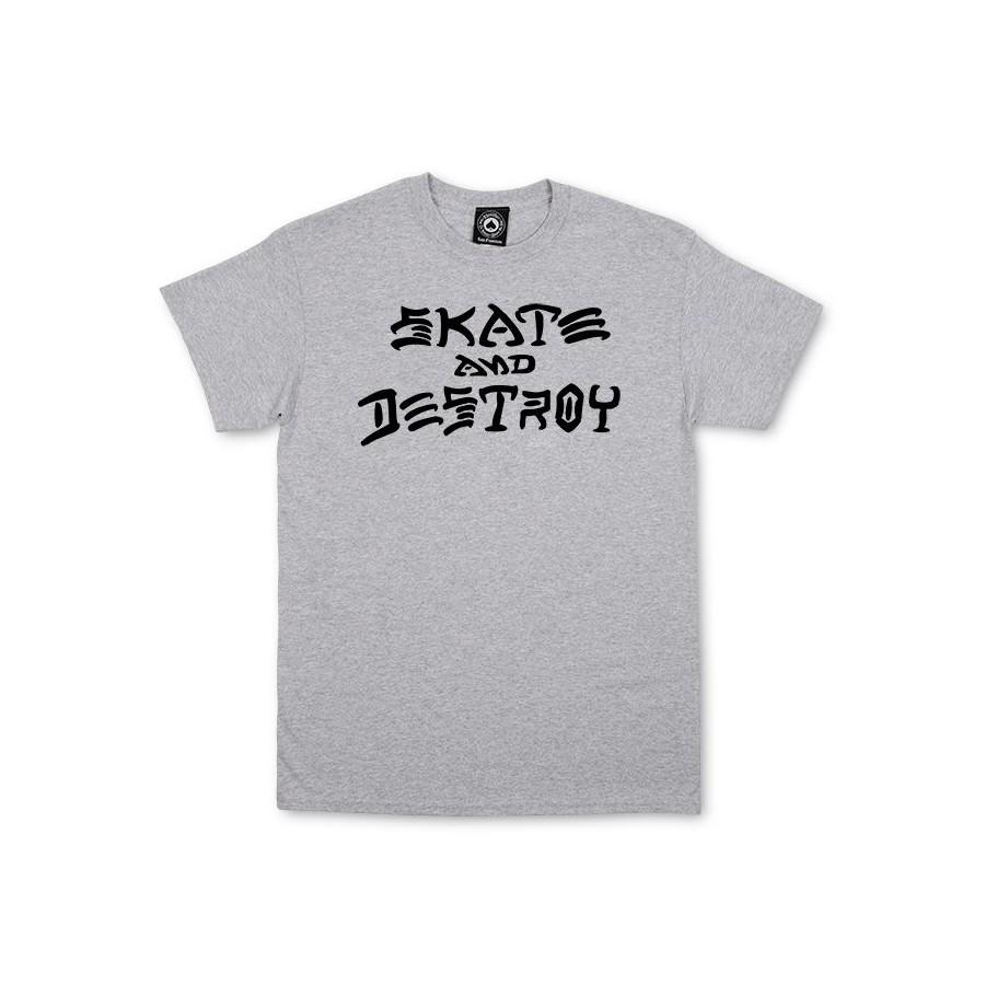 Camiseta Thrasher Skate and Destroy Grey