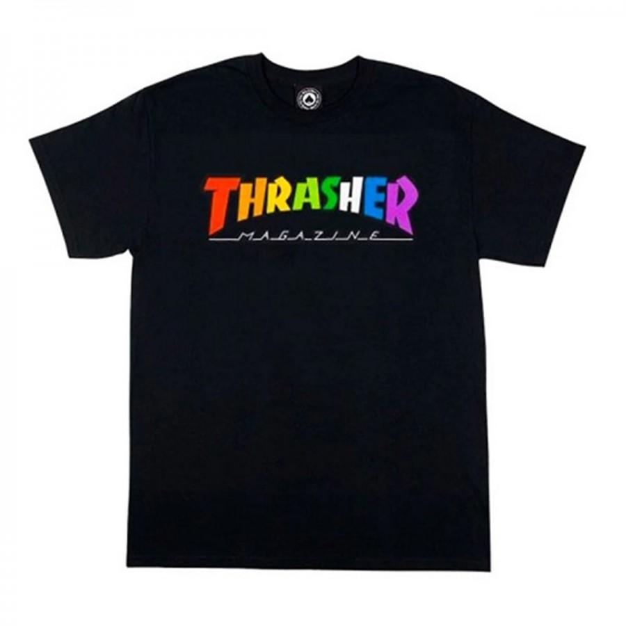 Camiseta Thrasher Rainbow Tee SS Black