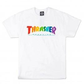 Camiseta Thrasher Rainbow Tee SS White