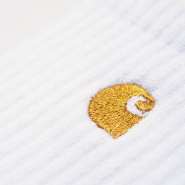 Calcetines Carhartt Chase Socks White / Gold