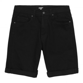 Bermuda Carhartt Swell Short Black Rinsed