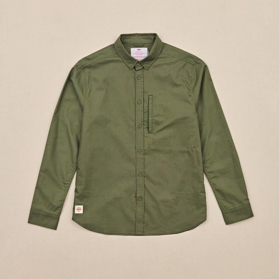 Camisa Globe Foundation LS Shirt Olive