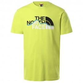Camiseta The North Face Mountain Line Tee Sulphur Spring Green