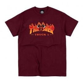 Camiseta Thrasher Truck 1 Tee SS Maroon