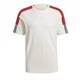 Camiseta Adidas CB LIN T SS Off White Scarlet