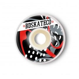 Ruedas BDSkateCO Splash Black Red 53mm