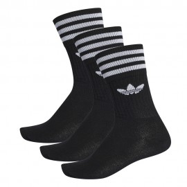 Calcetines Adidas Solid Crew Sock Black White 3 Pack