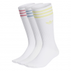 Calcetines Adidas Solid Crew Sock White Multi 3 Pack