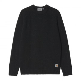Jersey Carhartt Anglistic Sweater Speckled Black